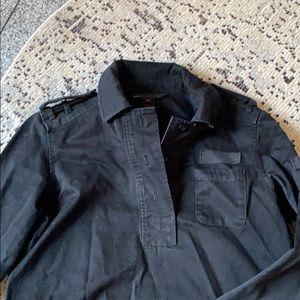 Marc Jacobs black denim long sleeve swing dress, M